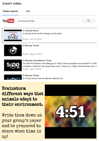 how to add a timer on google slides